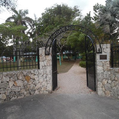 entrance to park