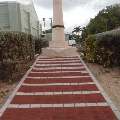 brick path leading to monument