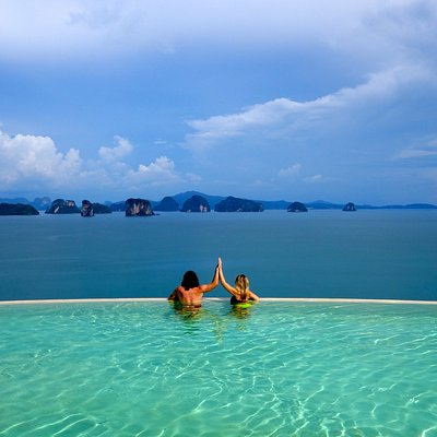 Celebrating the beautiful views from Koh Yao Noi, Thailand