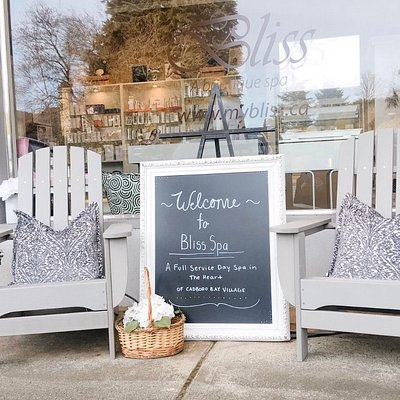 Bliss Boutique Spa in the beautiful Cadboro Bay Village down the hill from UVIC.