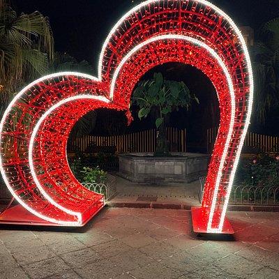 Valentinstag Dekoration im Zentrum von Garachico