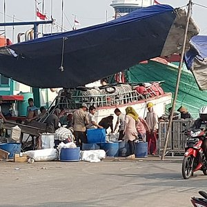 The fishing boat at Nizam Zachman Ocean Fishery harbour. Most of the boat capacity here 250 tones. The main commodity fish from this harbour is Tuna Yellow Fin.