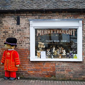 The Merrythought Teddy Bear Shop is open 7 days a week.  The Merrythought Teddy Bear Shop is a great place to visit with children and is a must-see as part of a day out in the World Heritage Site of Ironbridge.