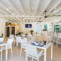 Indoor seating at The Terrace on Grace Bay