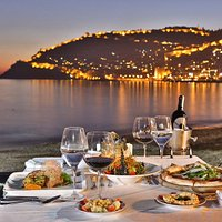 Soul of Kitchen located Anjeliq Beach, We have wonderful view of Alanya Castle and Red Tower.