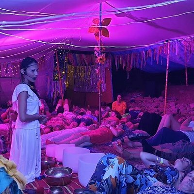 Sound Healing performance in a Maltese Festival.