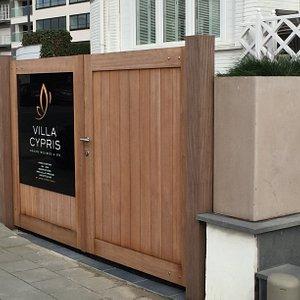 Villa Cypris wellness entrance