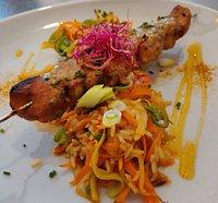 Brochette de poulet saveurs thaï