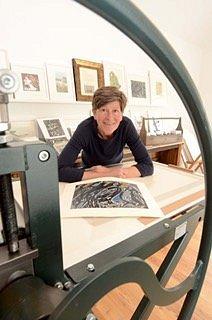 Sheelyn in her Gallery