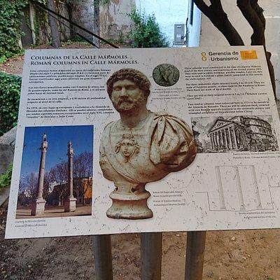 古羅馬帝國哈德良皇帝在一世紀末、二世紀初建造神廟時,現今還遺留下來的三根以埃及花崗岩、每根九米高的完整圓柱體資訊