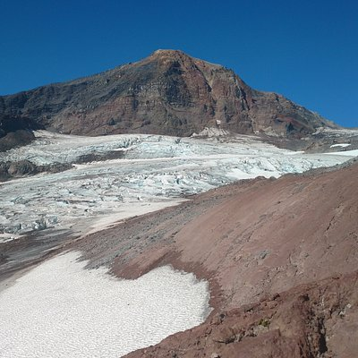View of Middle Sister from the NE corner of Hayden Glacier.