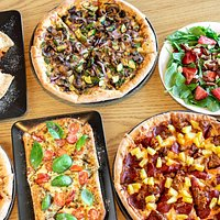 Fine selection of gourmet pizzas, flatbreads, salads and more.
