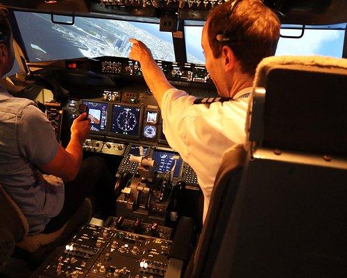 Inside the Boeing 737 simulator.