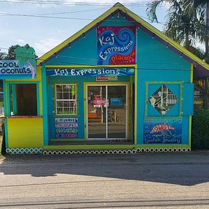 Our colorful store is located right in front of the sports field on main street. It can't be missed!