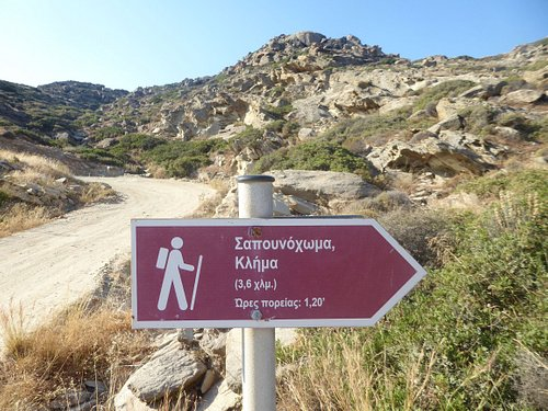 sign for the path to Klima