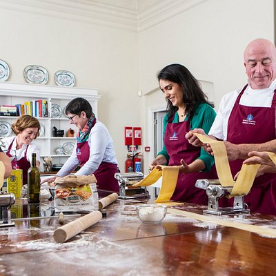 Group classes at the Howth Castle Cookery School in the fishing village of Howth, Dublin 13, Ireland