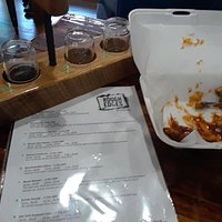 Enjoyed a flight and wings from the day's food truck!