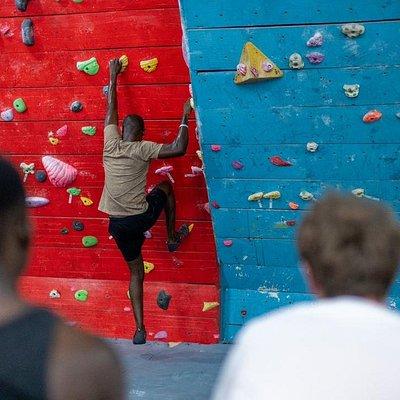 Climbing at Climb Salone