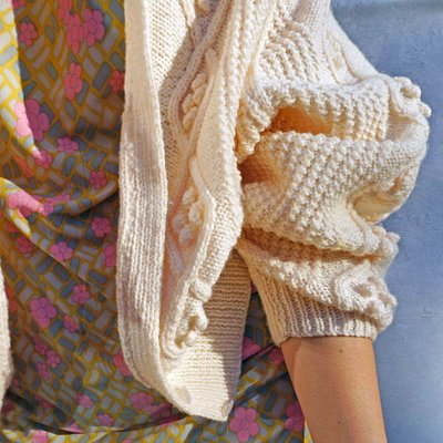 Bobble Knit Vintage Cardi