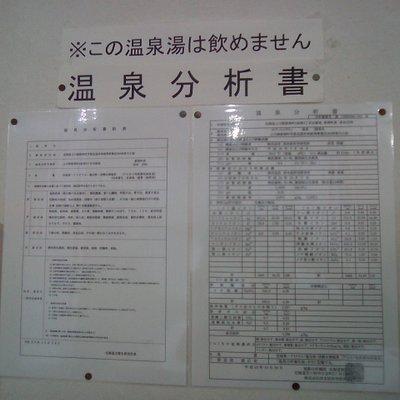 温泉分析書 (ヌプントムラウシ)