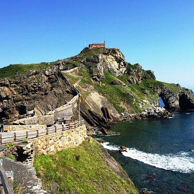 San Juan de Gaztelugatxe, also known now as Dragonstone in Game of Thrones