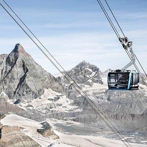 Dem Matterhorn vorbei schweben