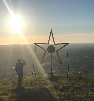 Love this walk. Hike up from cottage on mountain road and see the Rathore star and the cross at the peak. Up and down in an hour and the views are amazing.