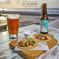 ¡Lobster Tacos!  El Palomar Cozumel Island Cuisine