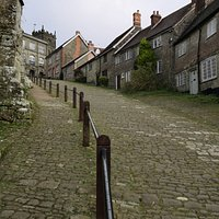 Looking up Gold Hill