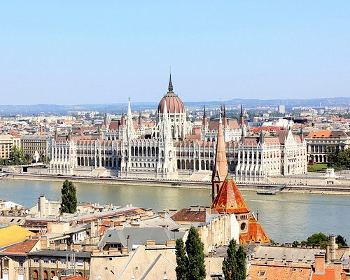 View over the Parliament from Buda Castle