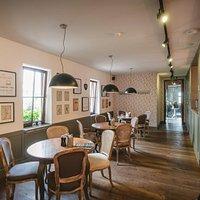 Interiér reštaurácie Forhaus