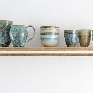 The lovely tableware of LiLo Ceramics on my kitchenshelf