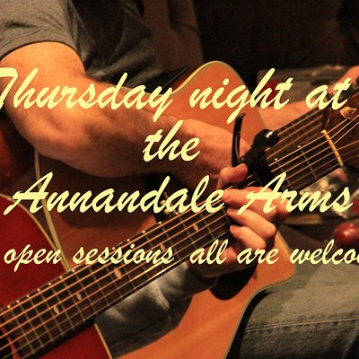 Open acoustic music sessions are held every Thursday night at the Annandale Arms Hotel. Everyone is welcome to join in and play, sing or just come and listen.