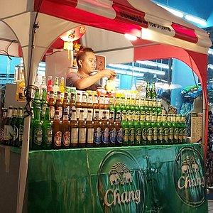 Drinks kiosk at the night market