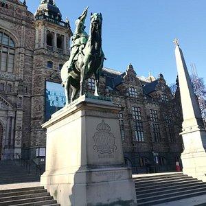 Памятн к Карлу Х Густаву, о. Юргорден, Стокгольм, февраль.