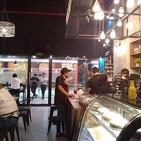 Parte del bar de café...