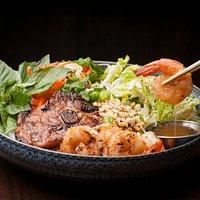 Bun Pork and Shrimp