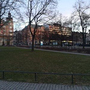 Norra Bantorget, Norrmalm, Стокгольм, февраль.