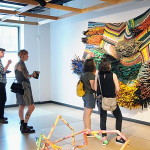 Contemporary Craft offers cutting edge exhibitions focused on multicultural diversity and contemporary art. This photo features Transformation 10 exhibition in 2019.