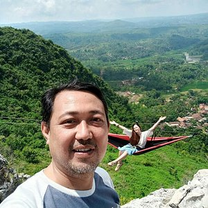 unique natural scenery where various sizes and shapes of rocks on the hill,of course because this is an ancient mountains that have existed since the stone age, but there is no doubt the scenery here is very beautiful and very instagrammable, hot weather you don't need to worry about,  because adventure is the most important,please shout loudly,because you can feel the sensation of sleep hanging between cliffs,there are only two choices,now or never, go on adventure with Java Private Tour.
