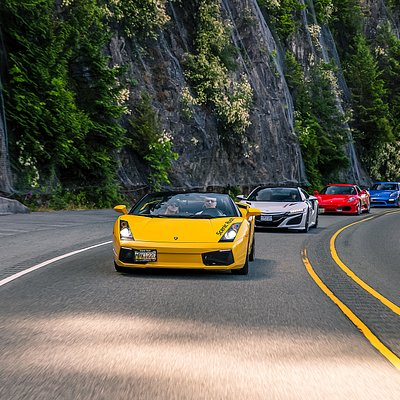 Drive FOUR exotic supercars on the Sea to Sky Highway!