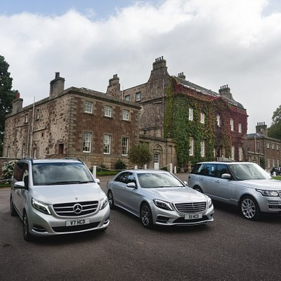 Some of our luxury fleet available for airport/hotel transfers; private tours or wedding hire
