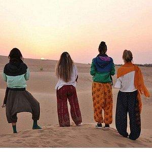 on the dunes watch sunset