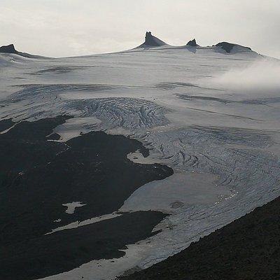 Så er vi oppe på Snæfellsjökull