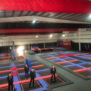 Wall to Wall Aerial Action!!! Pakistan's Largest Trampoline Park!