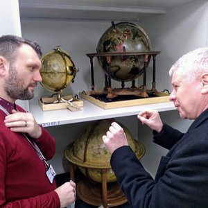 Viewing extremely well-preserved astronomical globes