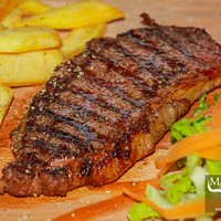 Sirloin Steak & Chips 9-95