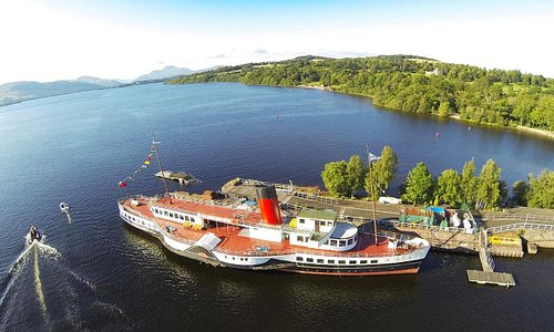 Arial view of the Ship & Loch Lomond