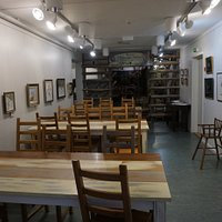 Salla Reindeer Park Cafe and their art exhibition