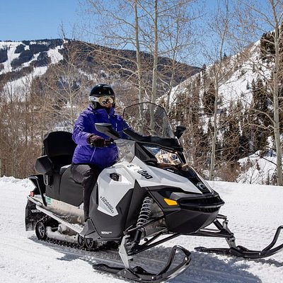 Snowmobiling in the heart of Vail, CO!